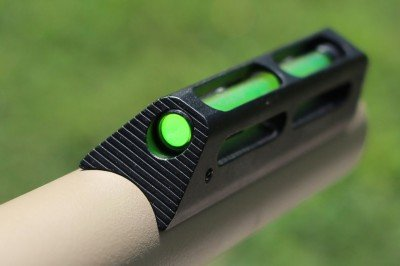 It fits the contour of the barrel perfectly, and makes target aquisition much faster than a typical bead.