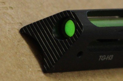 The dot on the  TG-H3 is wide, and the base of the sight is as wide as some rear sights, but it is ideal for a scatter-gun.