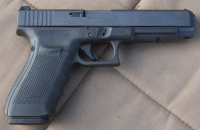 The Glock 41 is a larger competition version of the G21. Rather than rush to review this gun back in February, we decided to shoot it a lot, and it is very consistent.