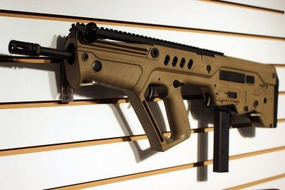 The Tavor even has a 9mm conversion kit now that turns the rifle into a pistol caliber carbine.