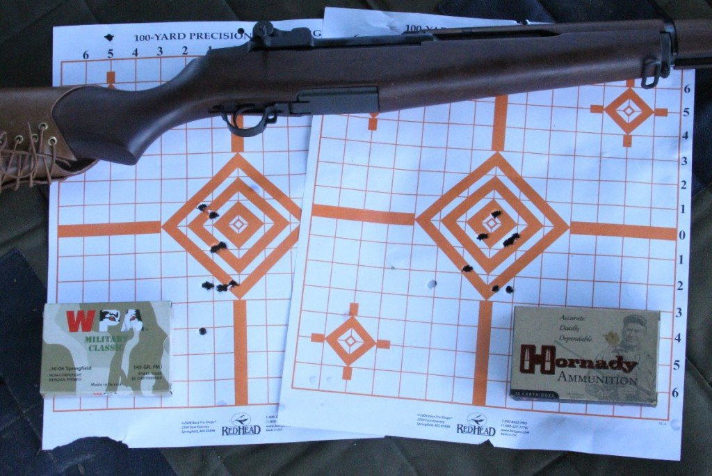 """It was no surprise that the Garand shot into under or around 3"""" with the Hornady ammo. The cheap steel case ammo spread into just about the same dispersal as the SVT."""