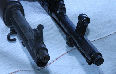 The SVT-40 is several inches longer than the M1 Garand, due to the the long action and flash hider.