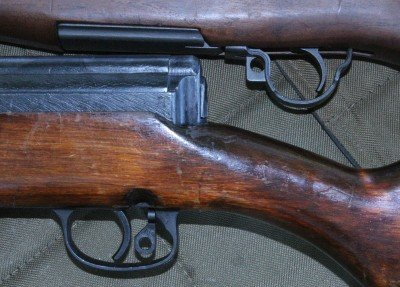 The safety on the SVT is much more usable than the Garand. You flip it sideways instead of back, and it isn't sticky like a Garand.
