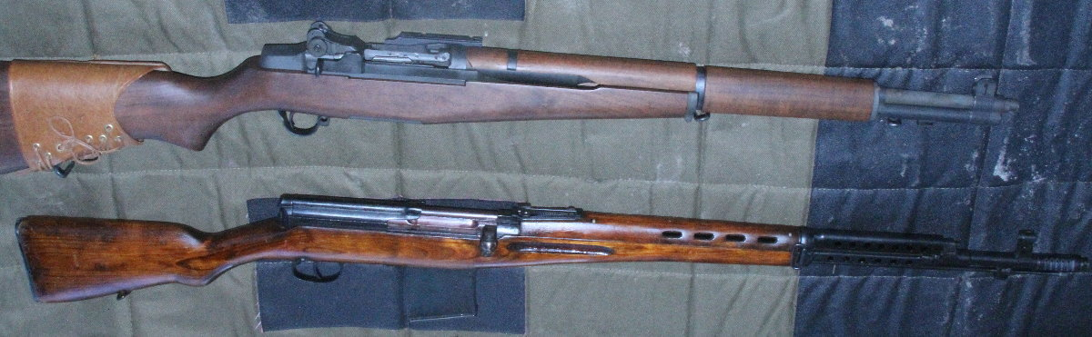 The SVT-40, below, is the Soviet counterpart to the M1 Garand. It was the semi-auto battle rifle of the the Allies on the Eastern Front.