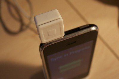 The square, a small and mobile credit card processor. (Photo: The Daily SIgnal)