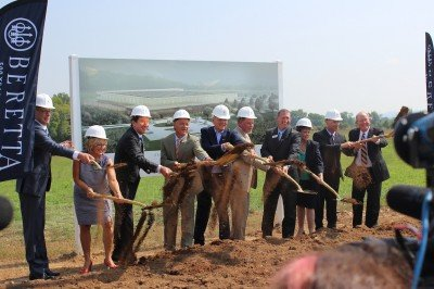 With a flip of some dirt, Beretta breaks ground in Gallatin, Tenessee.