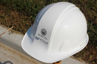 As the helmet say, Patillo Construction, an Atlanta based firm, will be building the new factory.