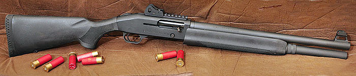 The only catch with the semi-auto is you don't have a pump to cycle. That sound alone is a great threat deterrent.