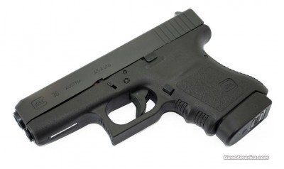 Limited only by its maximum 6 rounds, the G36 is a thin Glock .45 ideal for carry.