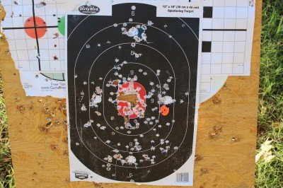 How easy is it to gauge accuracy? With shoot-and-see targets, it is easy. This will punch paper nicely.