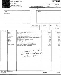 This is the invoice for the work. Many of these things can be purchased for your own installation.