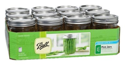 If you plan to stay in one place glass canning jars are fine, but make sure to get a bunch of extra lids they can only be used once.