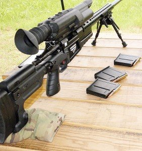 The main power button is on the back of the scope just to the right of the ocular.