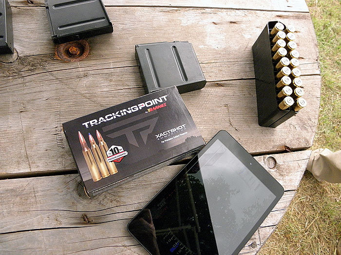 The ammunition, specially manufactured for TrackingPoint by Barnes, is an integral component of the shooting system.