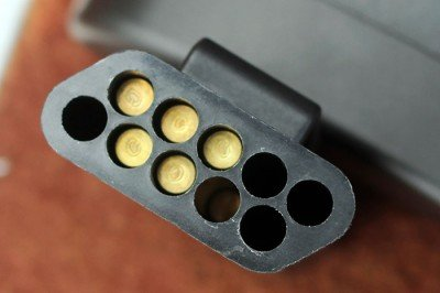 Ten tubes hold five rounds each.