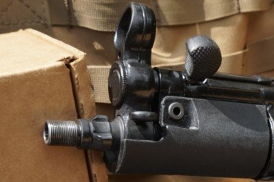 The front sight, which is cast, offers a wide field of view that makes target acquisition fast.