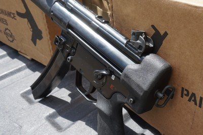 The rear sight is welded on, very well.