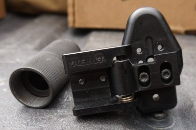 The folding stock adapter is a must for anyone who hopes to conceal the POF-5