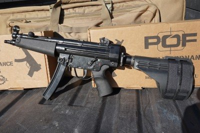 The POF-5 with the folding brace is still compact, but not as small as the POF-5K.