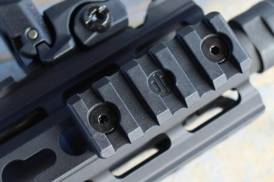 The key-mod forend allows for placement of extras, though it will only fit in the case in this configuration.