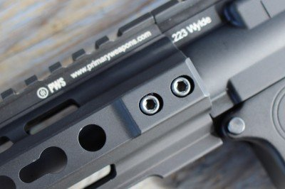The forend bolts in place securely and covers the gas system so well that you wouldn't know it was there.