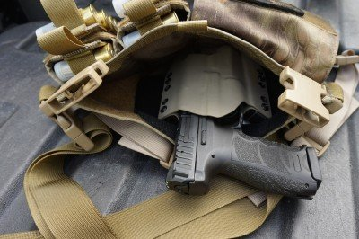 A Velcro holster is better than a typical OWB holster, but friction will hold one in place.