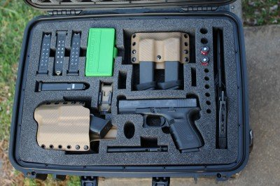My GLOCK 19. Seahorse case, Multi-Holsters rig, MyCaseBuilder.com's foam...don't leave home without it.