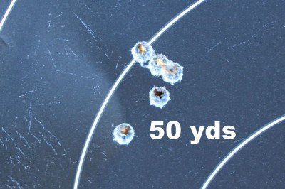 5 rounds from 50 yards using the MBUIS system.