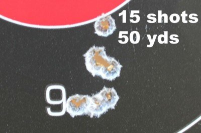 15 rounds from 50 yards. Standing.