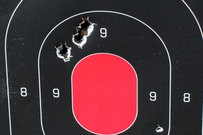 From 50 yards, the group was consistent. No problems there.