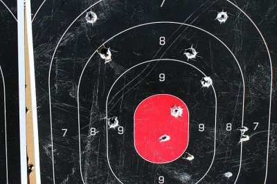 This is representative of our 100 yard targets. The accuracy just doesn't inspire 300 yard confidence.