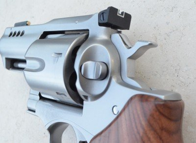 The Alaskan sports the classic Ruger push-button cylinder latch.
