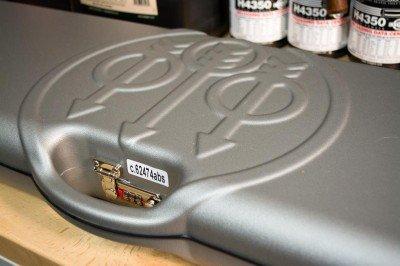 The hard case has three combination locks built in.