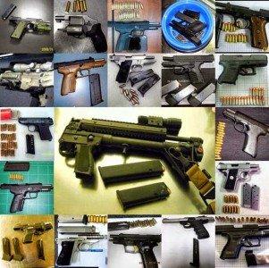 Guns discovered by the TSA.  (Photo: TSA)