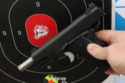 You want extreme accuracy from a gun you can carry reliably? That's a full mag from 25 yards.