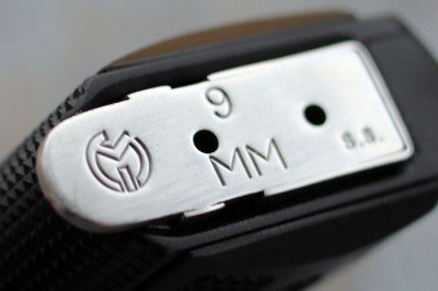 The magazine is clearly marked, which helps those of us lucky to own 1911s in various calibers.