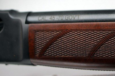 The checkering on the forends provides a grip surface.