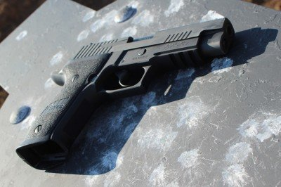 The P226 isn't thin, but this isn't a gun built for concealed carry.