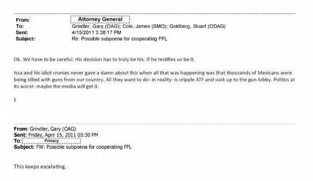 Holder's email.  (Photo: The Blaze)