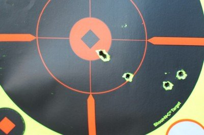 Five shots form the shoulder at 100 yards with 55 grain Hornady. The PAR is as easy to hold on target as any AR-15.