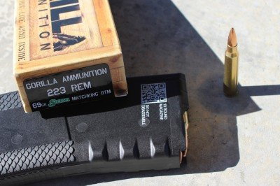 The Gorilla ammo did very well from the gun.