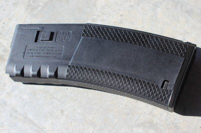 Troy's magazines have a distinct scaled texture that is easy to grip.