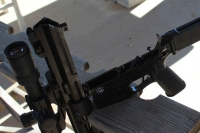 The angle of the end of the upper is different than that on a typical AR-15