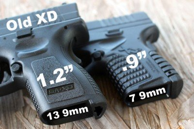 The original XD and XD-S 9, side by side, are really close in size, but not capacity.