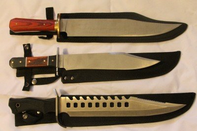 All three of these Bowie Knives were bought for under $30 with shipping from either Ebay or BudK.