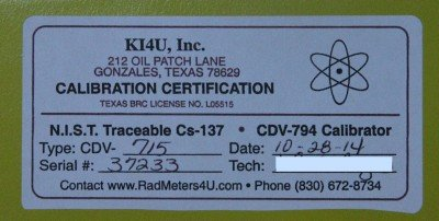 When you send your meter into KI4U.com to get calibrated, they are marked with a certification sticker.