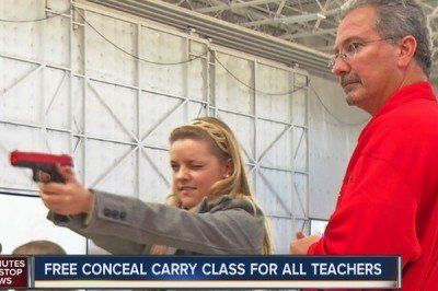Colorado teachers take a firearms course.