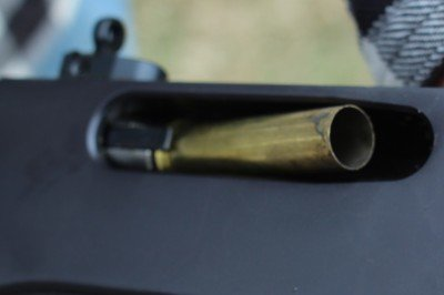 Ejection didn't mar the brass, at all--good news for those who want to reload.