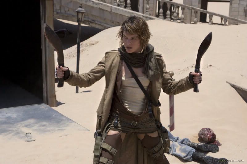 Perhaps the best modern reference to the Kukri is Alice in the Resident Evil movies. She rocks two of them.