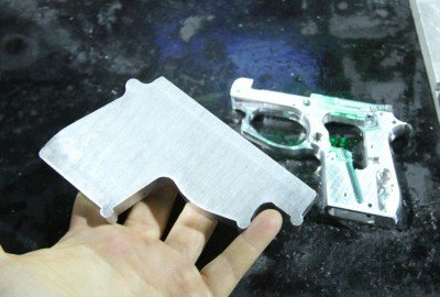The blanks are forged off site, and the CNC makes the cuts and holes that turn it into a firearm.